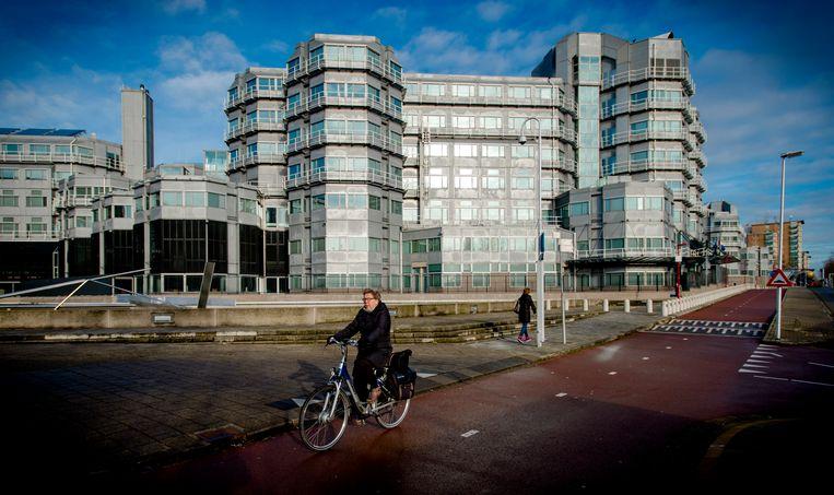 Het kantoor van de Algemene Inlichtingen- en Veiligheidsdienst in Zoetermeer.  Beeld ANP