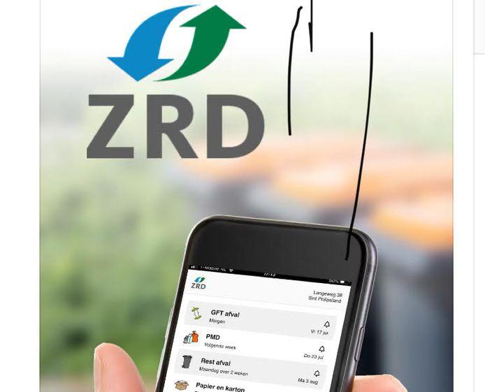 De afval-app van de ZRD