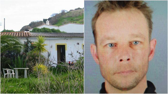 Hoofdverdachte Christian Brückner (rechts) en het huis waar hij in verbleef in Portugal.