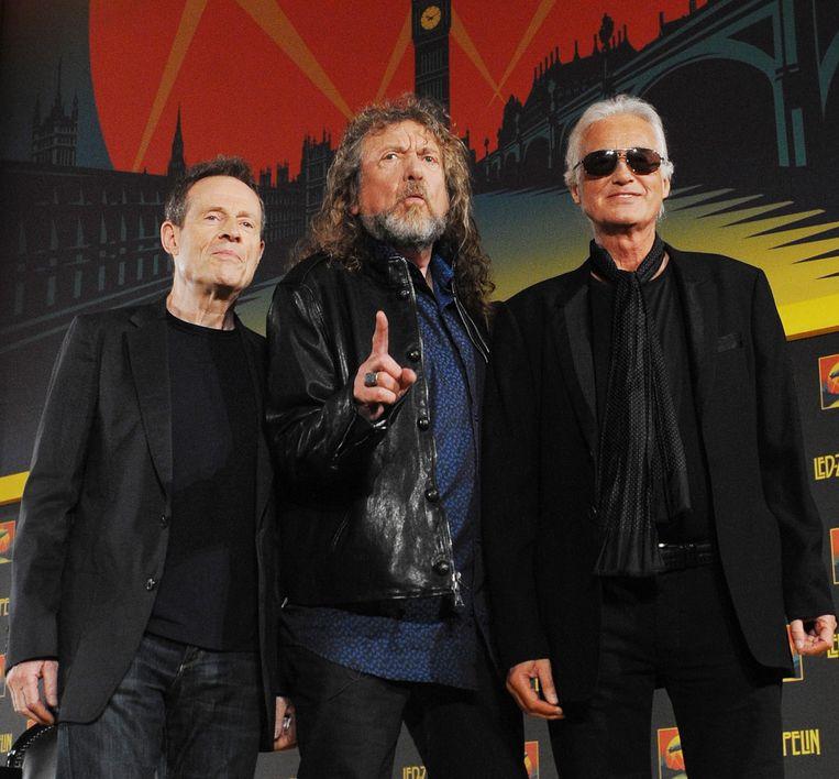 Led Zeppelin: v.l.n.r. John Paul Jones, Robert Plant en Jimmy Page. Beeld epa