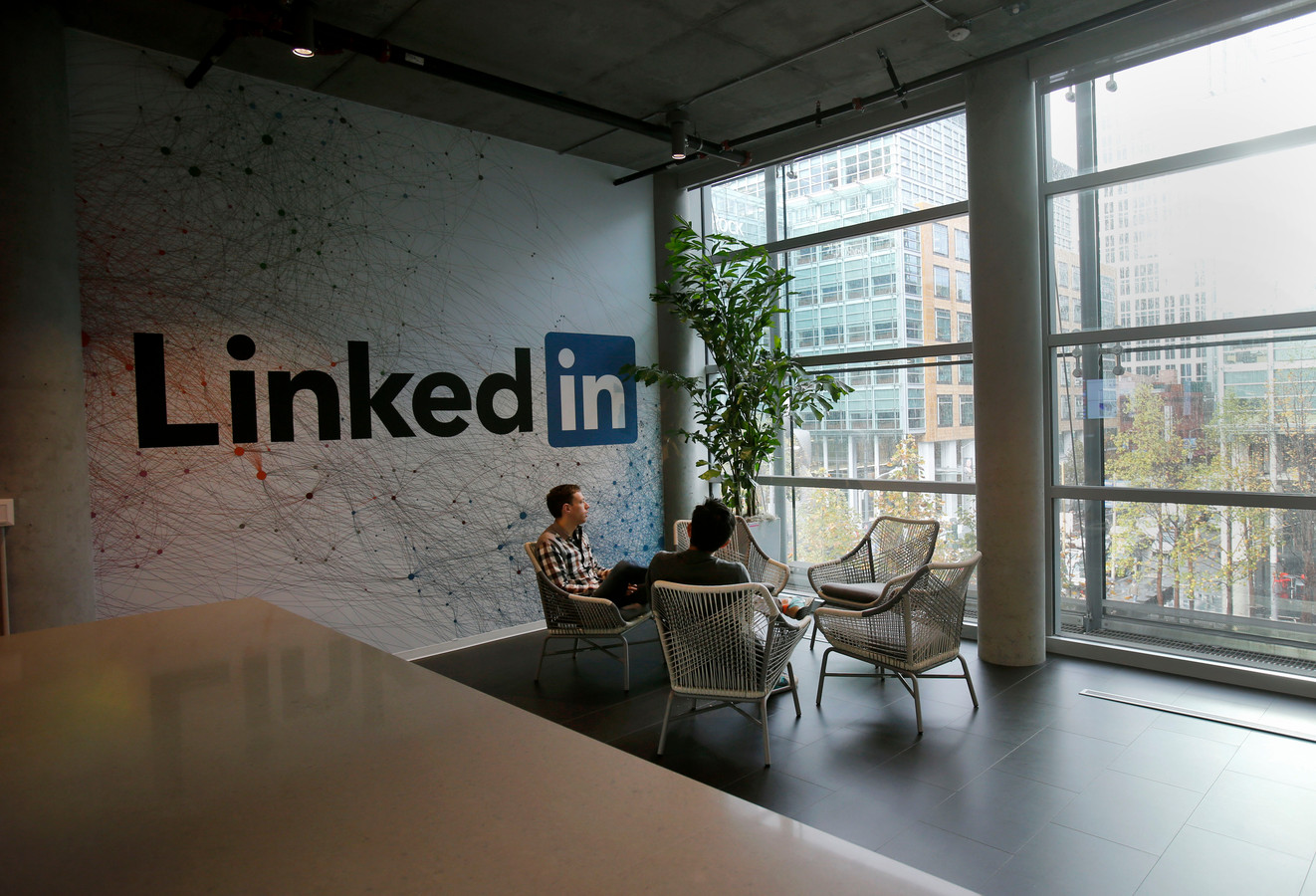 Kantoor van LinkedIn in San Francisco.