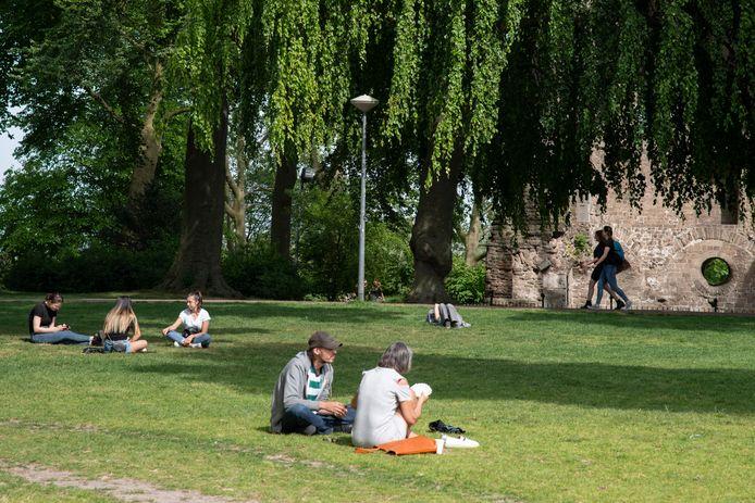 Genieten van het groen in Nijmegen.