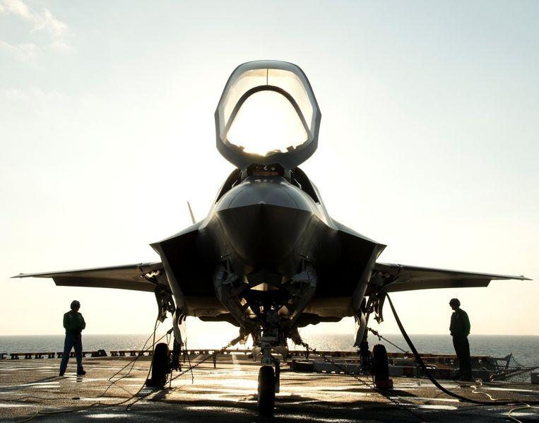 Een Amerikaanse F-35 van vliegtuigbouwer Lockheed Martin. Beeld reuters