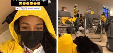 """Nafi Thiam et 48 athlètes belges sont arrivés à Tokyo, mais sont toujours à l'aéroport: """"Nous avons atterri il y a 5 heures"""""""