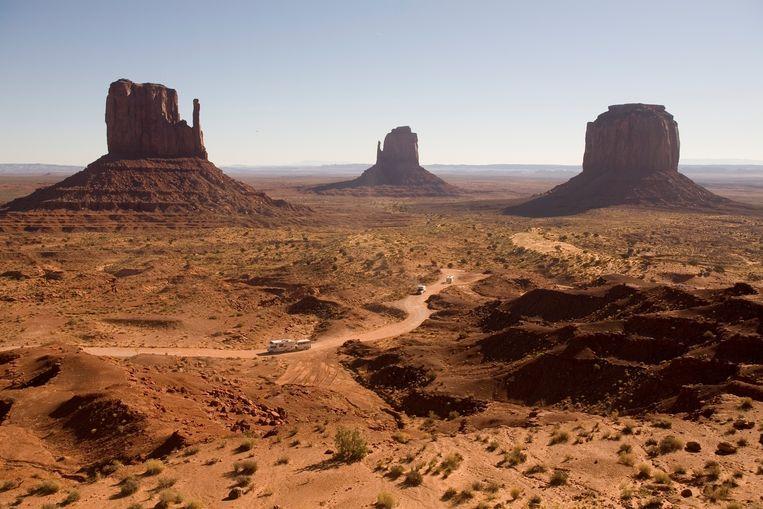 Monument Valley, Navajo indianenreservaat in de Amerikaanse staat Arizona. Beeld ANP