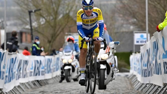 """Fabio Van den Bossche opnieuw in lange vlucht Ronde van Vlaanderen: """"Fantastisch, maar liever wat langer meegegaan"""""""