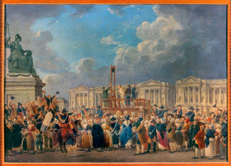 Schilderij van een executie tijdens de Franse Revolutie. Beeld Getty