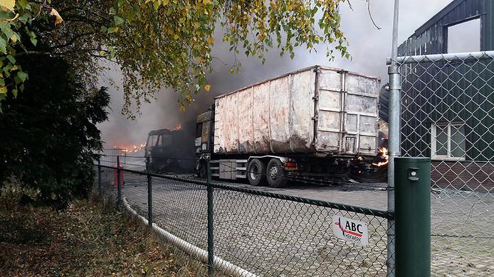 Maandag na de uitbraak van de brand in Someren-Heide