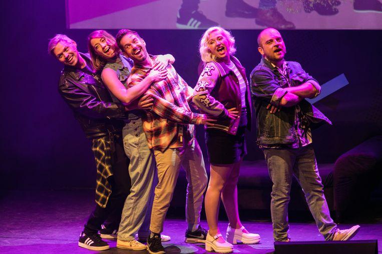 De cast van de comedyshow Sitcom van Boom Chicago. Beeld Geert Broertjes
