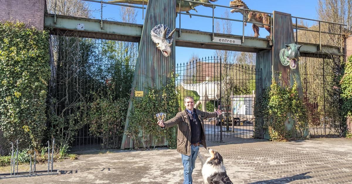 Dinoland in Zwolle nodigt Thierry Baudet uit om te zien dat prehistorische dieren écht hebben bestaan
