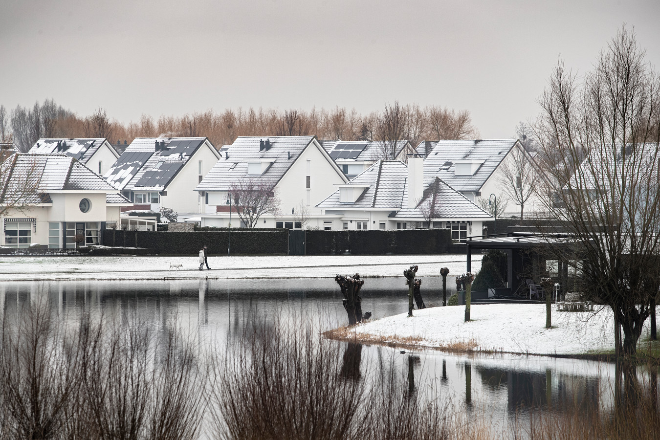 Helmond, eerste sneeuw van het jaar. In de wijk Dierdonk.
