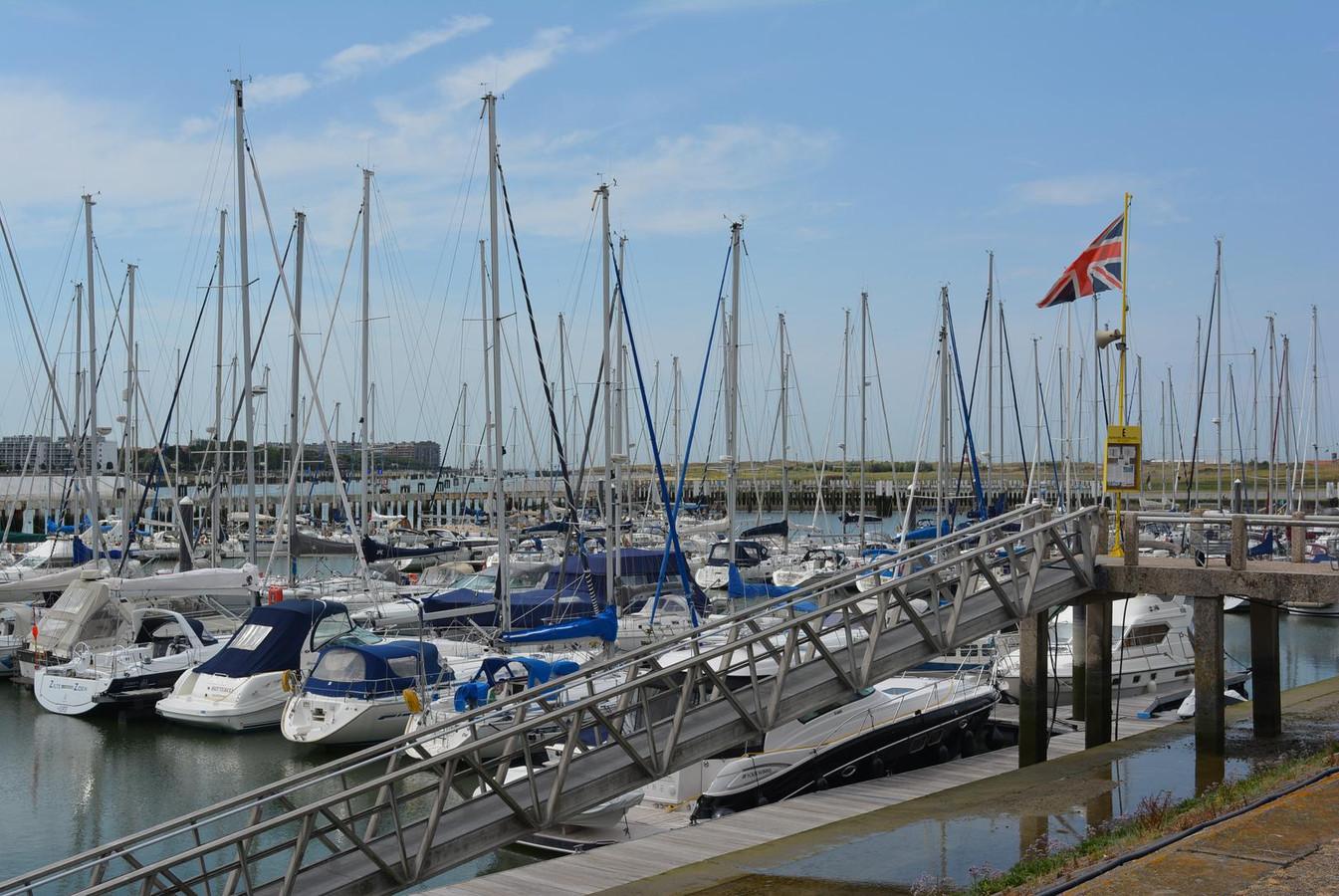 Archieffoto, de jachthaven van Nieuwpoort.