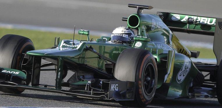 Giedo van der Garde in actie in Jerez. Beeld epa