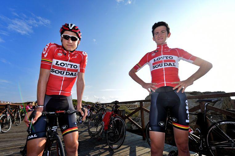 Tim Wellens en Tiesj Benoot. Beeld Photo News