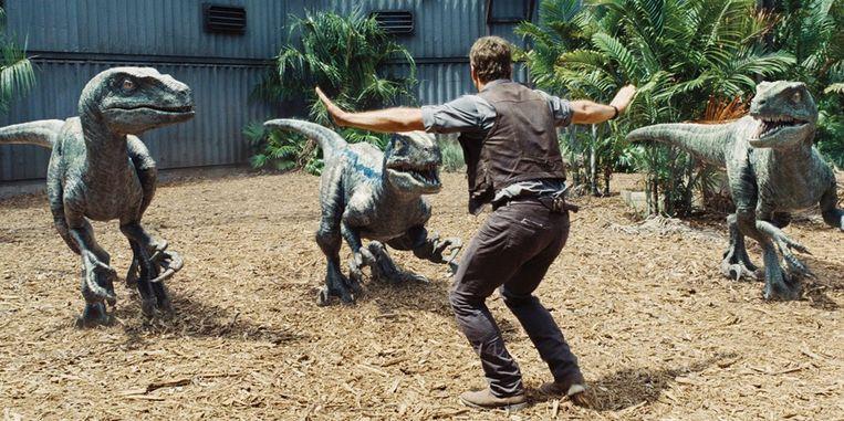 Chris Pratt in Jurassic World van Colin Trevorrow Beeld