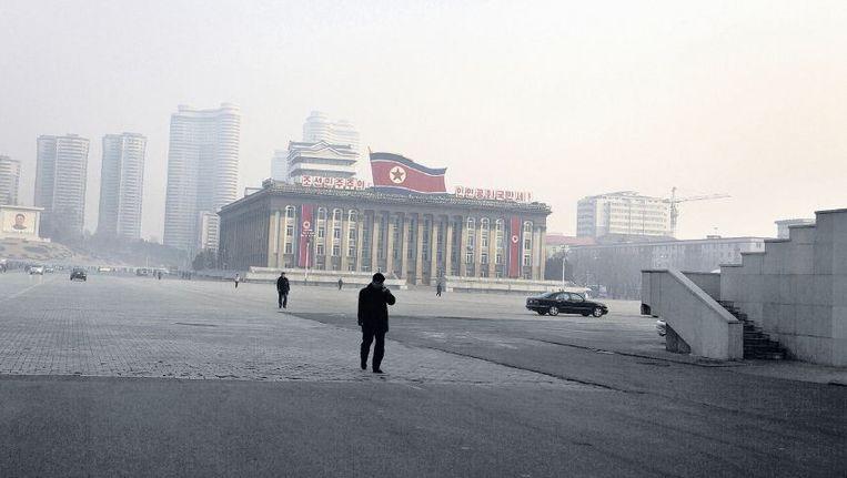 Het Kim Il-sungplein in de Noord-Koreaanse hoofdstad Pyongyang. Het plein is genoemd naar de stichter van de republiek en wordt geregeld gebruikt voor militaire parades. Beeld ap