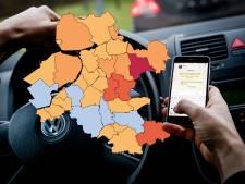 KAART   Flink meer appboetes uitgedeeld in Oost-Nederland, Ommen is de grootste stijger (dat is niet zonder reden)