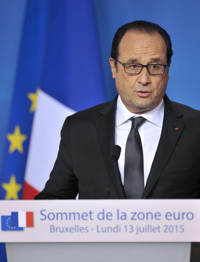 De Franse president François Hollande. Beeld AFP