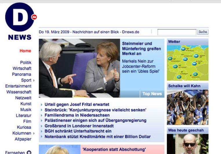Foto website Dnews.de Beeld