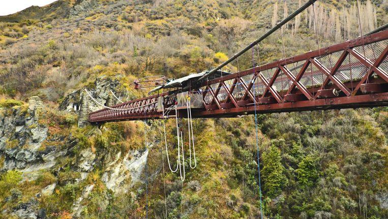 Een bungeejumpbrug. Niet de brug in Noord-Spanje, waar maandag een Nederlands meisje omkwam.