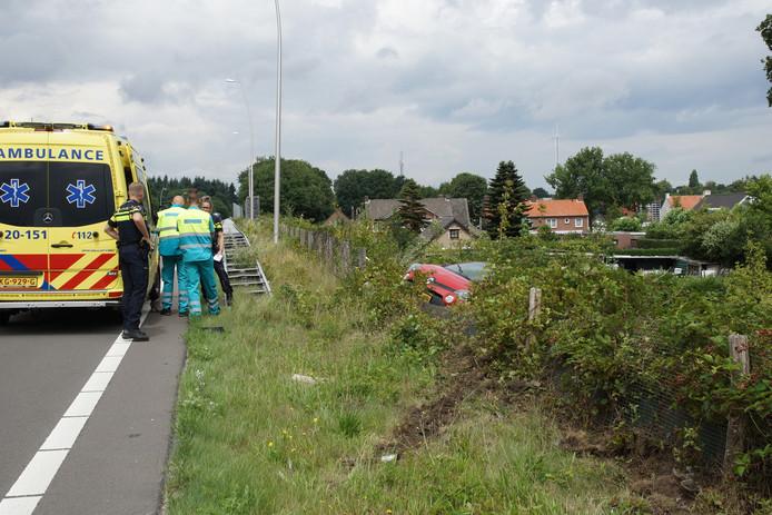 Het voertuig van de bestuurster raakte beschadigd.
