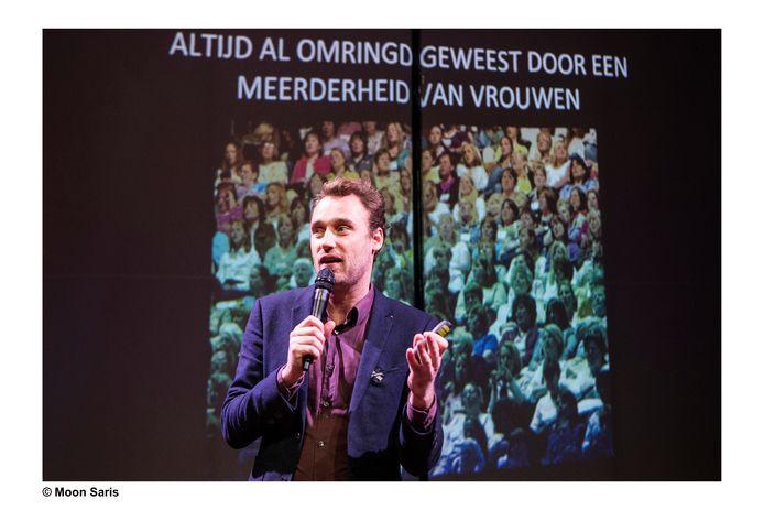 Michiel Lieuwma tijdens de Ouds en Nieuws Show 2017