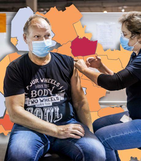 KAART   'Donkerrood' Staphorst telt meer besmettingen dan Zwolle en Deventer samen