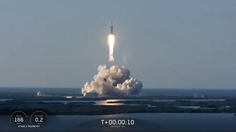 Lancering Falcon Heavy.