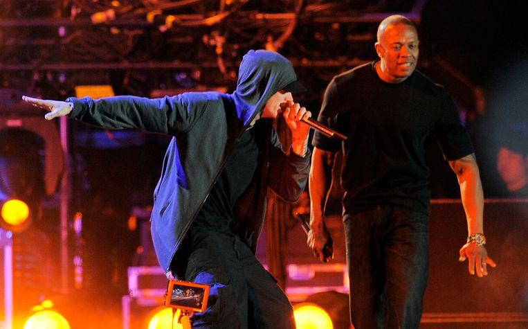 Dr. Dre en Eminem. Beeld AP