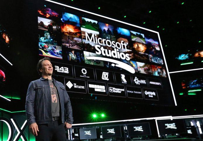 Xbox-topman Phil Spencer op archiefbeeld.
