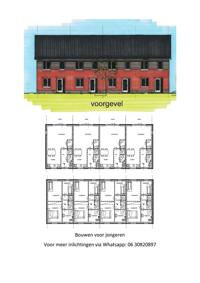 Voorbeeld van een woning die voor 210.000 euro vrij op naam in Tubbergen kan worden gebouwd.