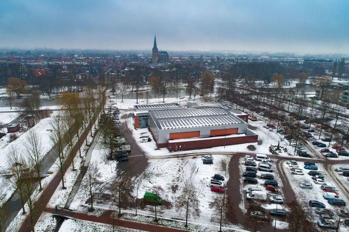 De toekomstige priklocatie in Kampen, ter hoogte van het groene busje.