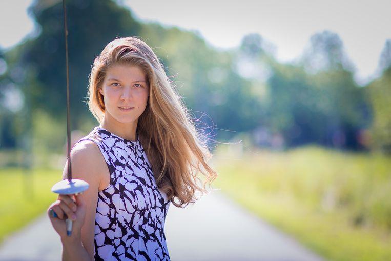 Eline Rentier, de beste floretschermster van Nederland. Foto: Dora Barens Beeld RV