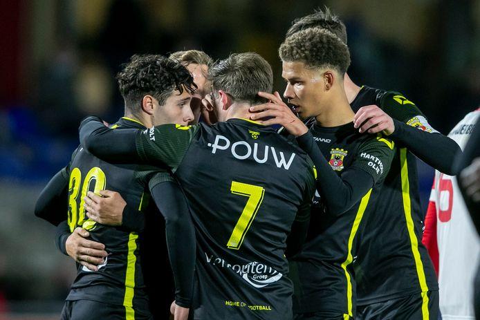 Go Ahead Eagles viert de 0-1 van Giannis Botos, dat genoeg blijkt voor de zege op Jong FC Utrecht.
