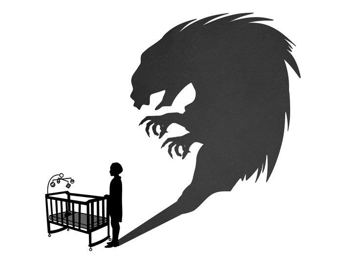 Illustratie over de oppas die wordt verdacht van het misbruiken van zeven kinderen in de leeftijd van één tot zes jaar.