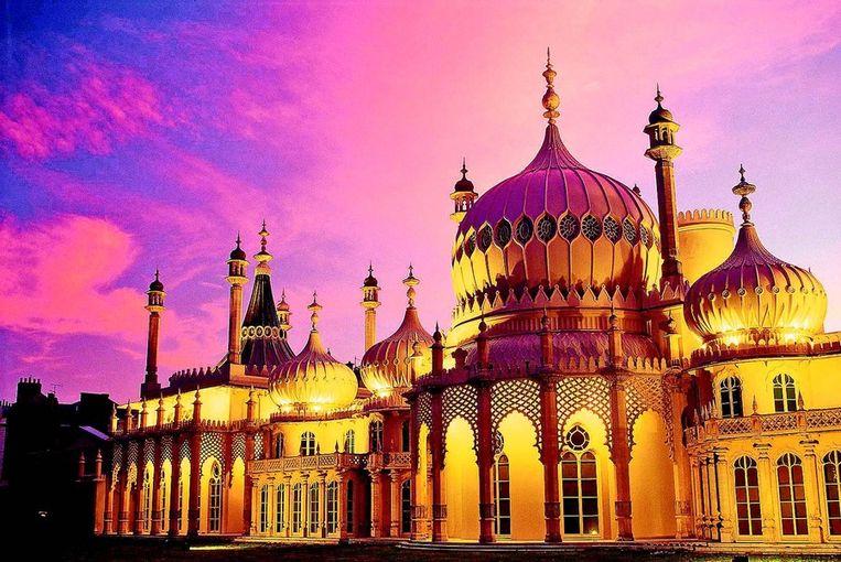 Het Royal Pavilion in Brighton is een paleis in Indiase stijl.