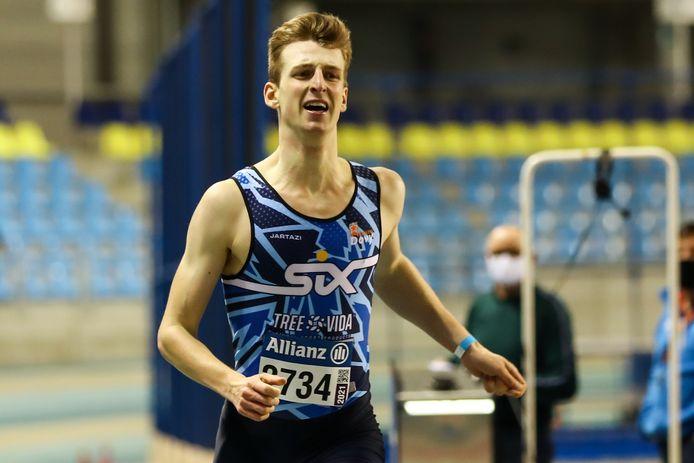 """Alexander Doom liep zaterdag solo naar 47.97 op de 400m: """"Een deelname aan het EK indoor met het 4x400m estafetteteam is iets wat ik zeker in mijn achterhoofd houd."""""""
