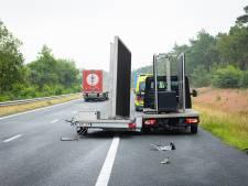 Automobilist onder invloed ramt bedrijfswagen met aanhanger op A28 bij 't Harde
