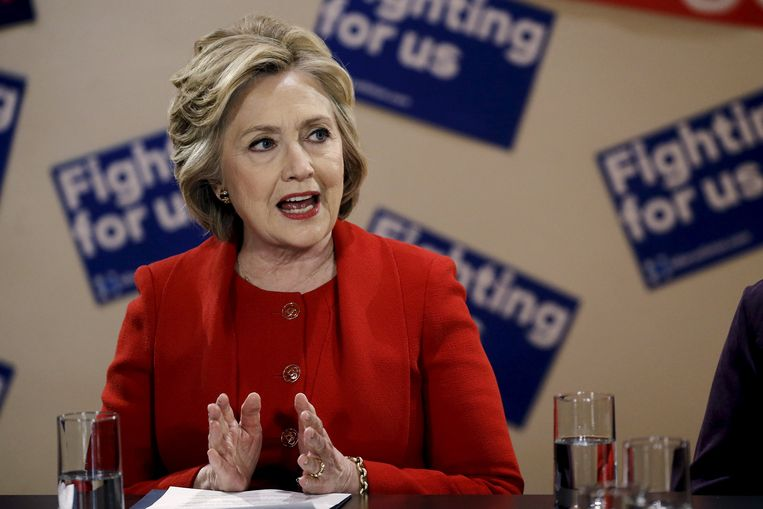 Krijgt Clinton met Trump de gedroomde tegenkandidaat voor het Witte Huis? Beeld REUTERS