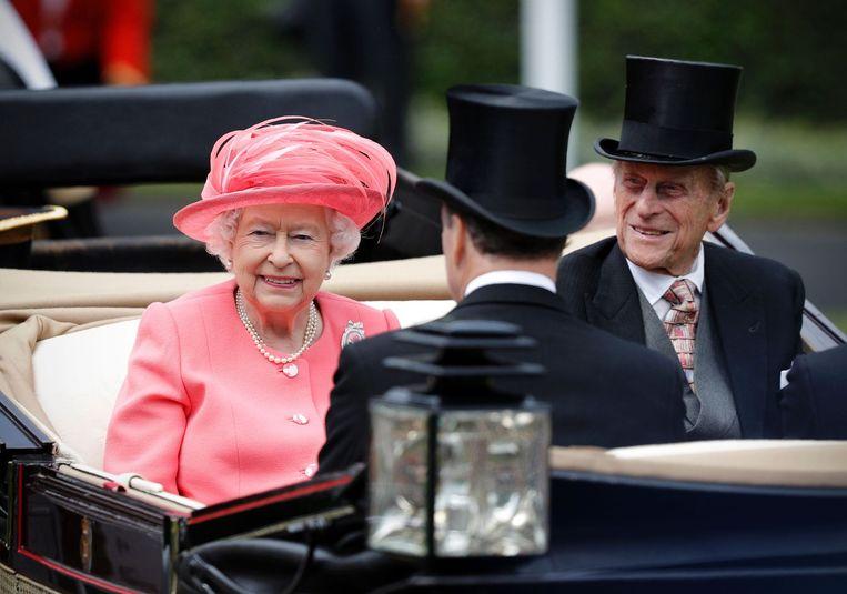 Queen Elizabeth en prince Philip. Beeld afp