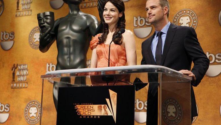 Michelle Monaghan en Chris O'Donnell maakten vanochtend de nominaties bekend. Beeld UNKNOWN