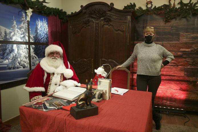Lilly Schrijvers, het hulpje van de kertsman in Aarschot, zorgde voor een online streaming event op woensdag 23 december.