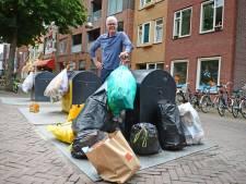Zwerfafval is een groot probleem in de binnenstad van Enschede, maar een oplossing lijkt ver weg