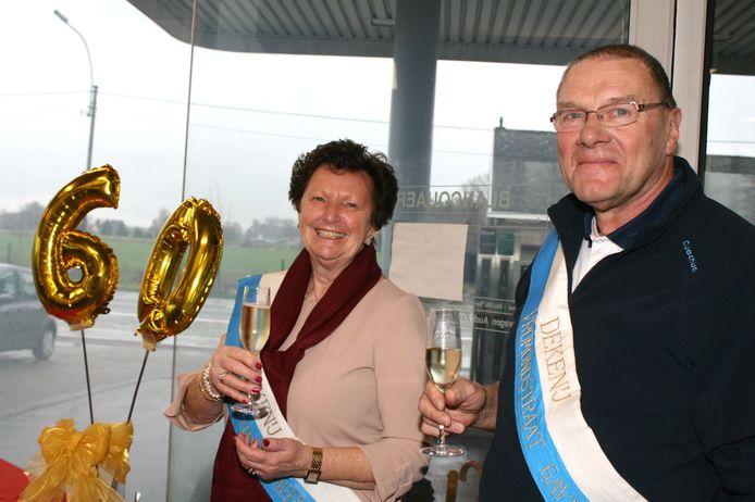 Viering 60 jaar Dekenij Vromondstraat Kalken : deken en dekenin Marc en Anny.