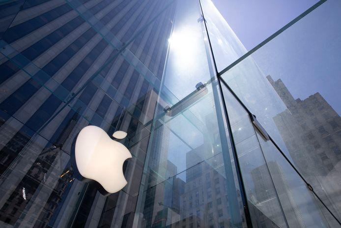 Apple presenteert de producten het liefst in winkels met heel veel glas zoals hier in de Apple Store in New York.
