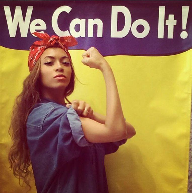 Beyoncé verwerkt vaak feministische standpunten in haar songs.  Beeld rv