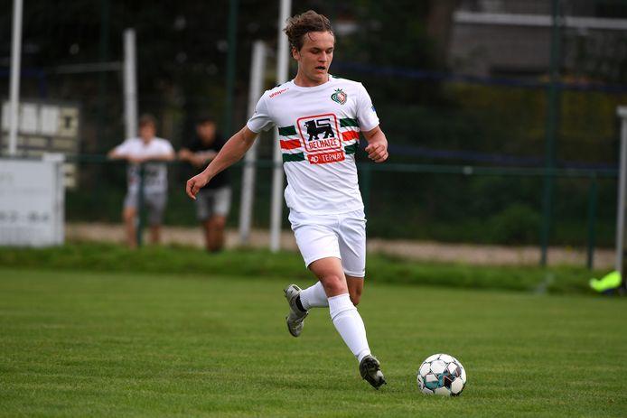 Vorige week scoorde Antoine Collin zijn eerste doelpunt tegen Kampenhout. Hij werd beloond met een basisplaats tegen VK Liedekerke en trof tweemaal raak.
