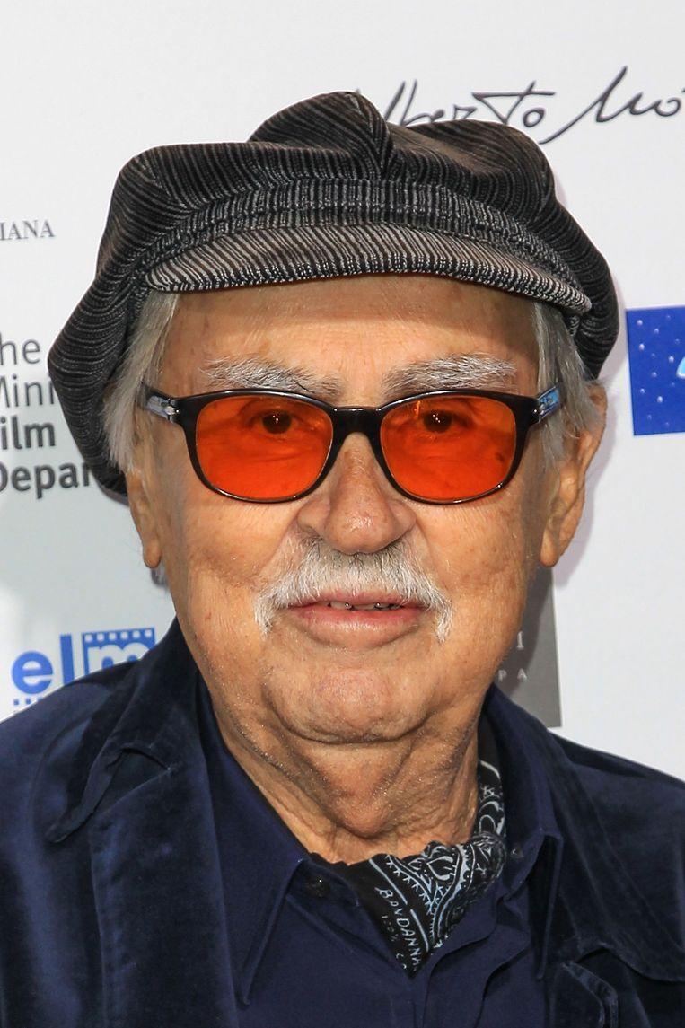 Vittorio Taviani in 2012, tijdens een screening van Caesar Must Die.  Beeld AFP