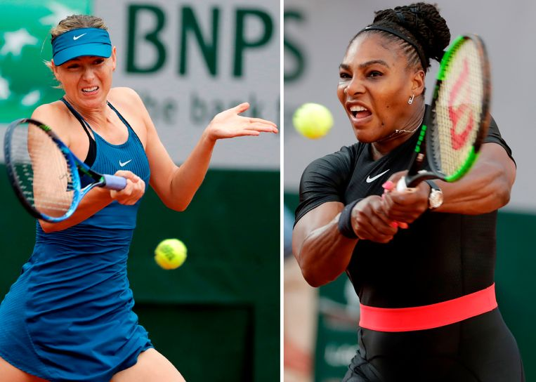 Serena Williams en Maria Sharapova.