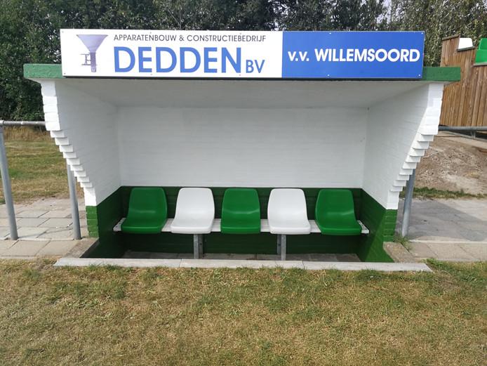 Willemsoord is de grote winnaar van de dug-outtest regio Zwolle. Strak in de verf, clubnaam, clubkleuren, stukje lager dan het veld, rekening gehouden met zichtlijnen: zo hoort het!